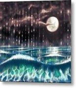 Pearl Rain @ Precious Pearl Ocean Metal Print