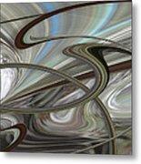 Pearl Swirl Metal Print