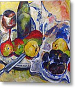 Pears And Figs Metal Print