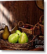 Pears At The Old Farm Market Metal Print