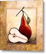 Pears Diptych Part Two Metal Print