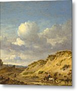 Peasants Driving Cattle And Sheep Metal Print