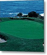 Pebble Beach Golf Course 8th Green Metal Print