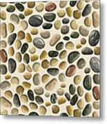 Pebbles On Sand Metal Print