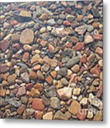Pebbles Under Water Metal Print