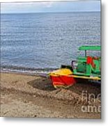 Pedalo On The Shore Of Lake Issyk Kul In Kyrgyzstan Metal Print