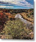 Pedernales River In Autumn Metal Print
