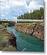 Pedestrian Bridge Over Yukon River In Miles Canyon Near Whitehorse-yk Metal Print