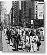 Pedestrians In New York Metal Print