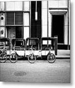 Pedicab Nyc Metal Print