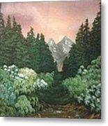 Peek-a-boo Mountains Metal Print