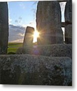 Peek-a-boo Sun At Stonehenge Metal Print