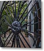Peek Into Courtyard Metal Print
