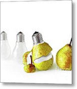 Peeled Bulb Metal Print
