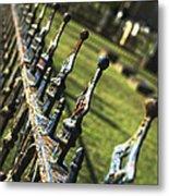 Peeling Graveyard Perspective Metal Print