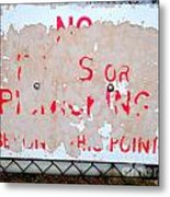 Peeling Paint Metal Print