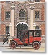 Peerless 1910s Usa Cars Winter Snow Metal Print