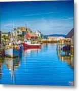 Peggy's Cove Boats Nova Scotia Metal Print