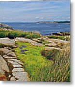 Peggy's Cove From Lighthouse-ns Metal Print