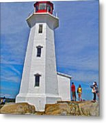 Peggy's Cove Lighthouse Closeup-ns Metal Print