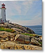 Peggy's Cove Lighthouse On The Rocks-ns Metal Print