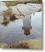 Peggy's Cove Reflection Metal Print