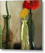 Peggy's Flowers Metal Print