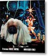 Pekingese Art - Star Wars Movie Poster Metal Print