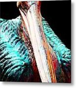 Pelican By Sharon Cummings Metal Print by William Patrick