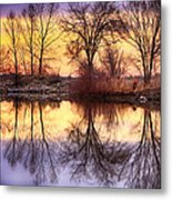 Pella Crossing Sunrise Reflections Hdr Metal Print