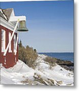 Pemaquid Point Bell House On The Maine Coast Metal Print