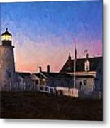Pemaquid Point Light At Dawn Metal Print