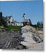 Pemaquid Point Light House Metal Print