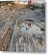 Pemaquid Point Light Iv Metal Print
