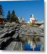 Pemaquid Point Reflections Metal Print