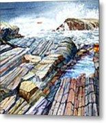 Pemaquid Rocks Metal Print