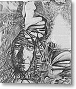 Pen And Ink World 3 Metal Print