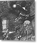 Pen And Ink World 5 Metal Print