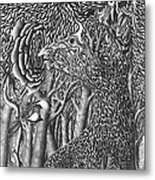 Pen And Ink World 8 Metal Print