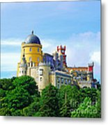 Pena Palace In Sintra Metal Print