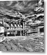 Penarth Pier 6 Monochrome Metal Print