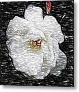 Pencil A Rose Metal Print
