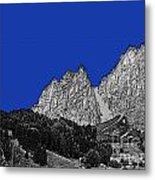Pencil Sketch Of Dolomites Metal Print