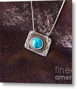 Pendant With Turquoise Metal Print
