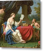Penelope Reading A Letter From Odysseus Metal Print