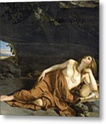 Penitent Mary Magdalene Metal Print