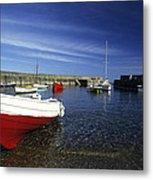 Pennan Harbour Scotland Metal Print