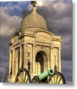 Pennsylvania At Gettysburg 2a - State Monument - Hancock Ave At Pleasonton Ave Late Afternoon Winter Metal Print