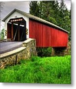 Pennsylvania Country Roads - Forry's Mill Covered Bridge - Lancaster County Spring No. 2 Metal Print