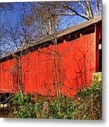 Pennsylvania Country Roads - Wagoners Covered Bridge Over Bixlers Run - Perry County Metal Print